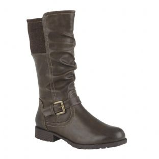 Lotus Womens Adriana Brown Mid-Calf Boots